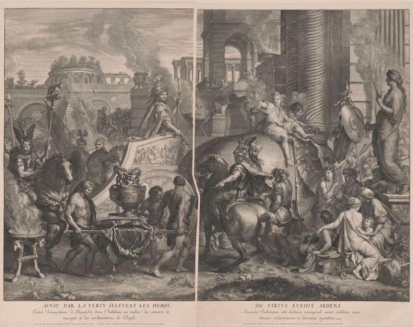 Gérard Audran after Charles LeBrun, &vid=01NGA_INST:IMAGE 'Alexander Entering Babylon,' original print first published 1675