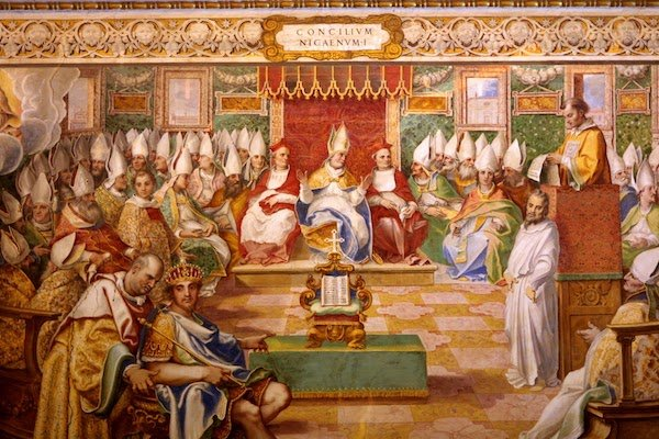 16th-century fresco depicting the Council of Nicaea