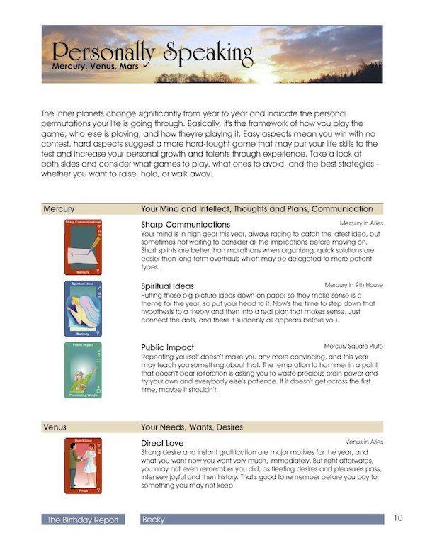 Natal chart product image
